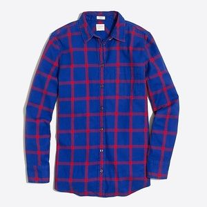 J. Crew • Royal Blue & Red flannel